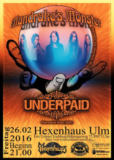 Live in Konzert--#Mandrake's Monster----Underpaid----Support