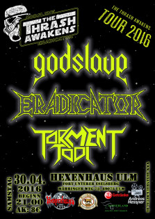 Godslave & Eradicator - The Thrash Awakens Tour + Support
